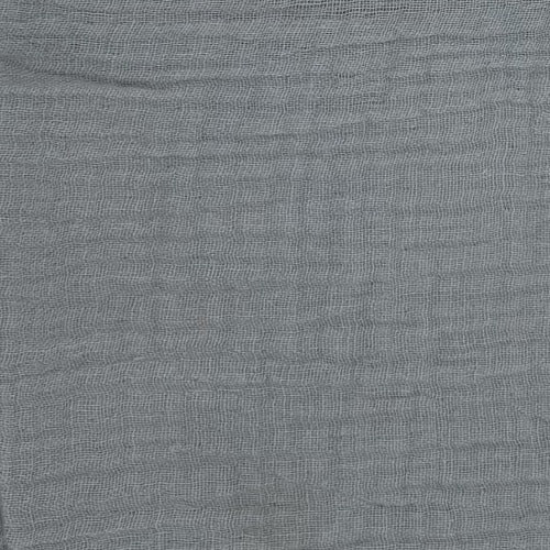 Grey #S150 Double Face 100% Cotton Gauze - SKU 5924