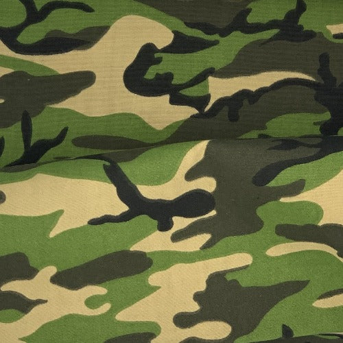 Green #U17 Army Camouflage Easycare WR Polyester/Cotton Print Woven Fabric - SKU 5824G