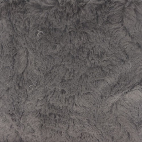 Grey #S206 Amelia Fun Faux Fur Knit Fabric - SKU 5919