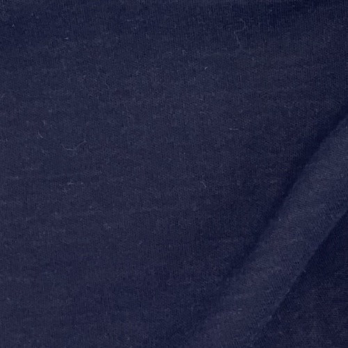 Dark Navy #S137  Interlock Knit Fabric - SKU 4337