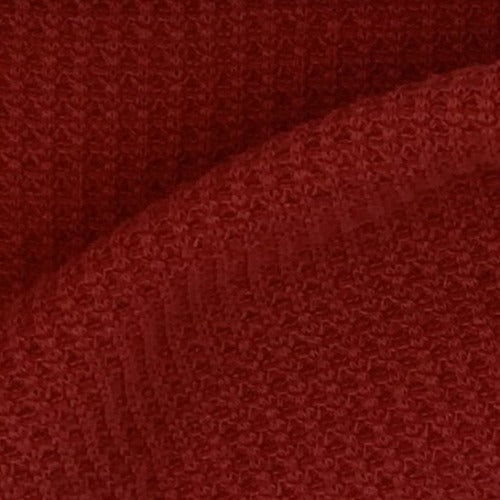 Red #S55/56 Cotton Polyester Thermal Knit Fabric - SKU 3885