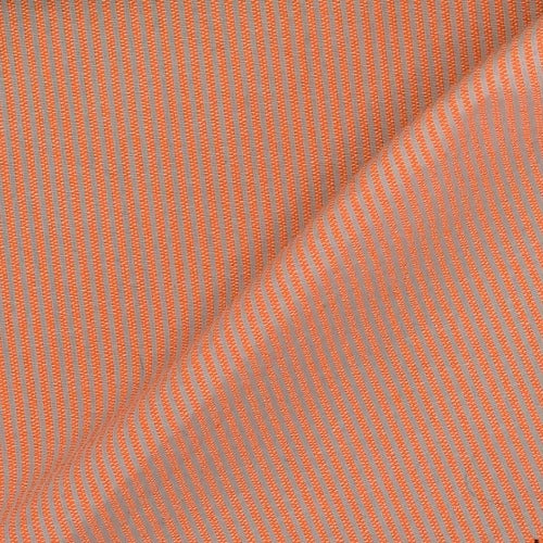 "Orange/White #SS96 1/16  Seersucker Stripe Shirting Woven Fabric "" - SKU 4732A"