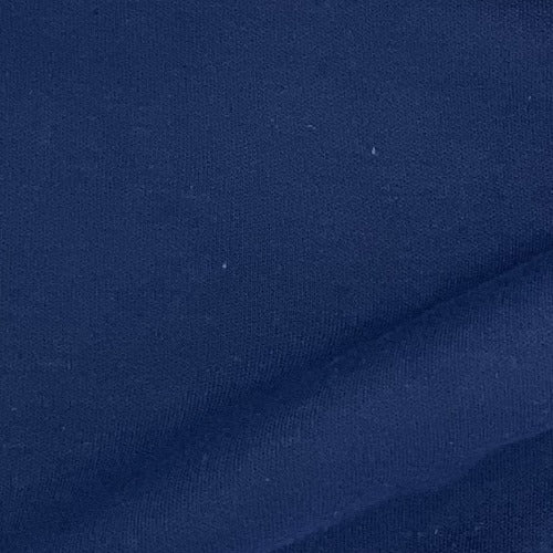 Navy #S68 Polyester/Cotton 12 Ounce Interlock Knit Fabric - SKU 5828E