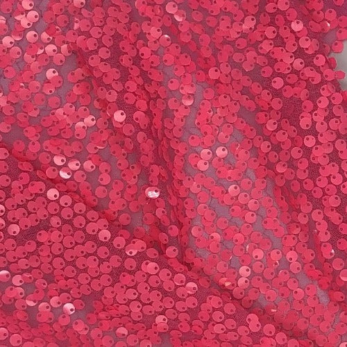 Pink #S Lopia Sequin Mesh Polyester Knit Fabric - SKU 6025C