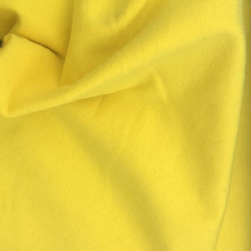 Yellow #S168  Cotton/Lycra 12 Ounce Jersey Knit Fabric - SKU 5918A