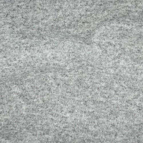 Grey Heather Polyester Cotton Rib Knit Fabric - SKU 2535