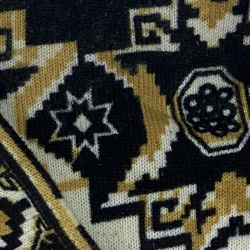 Gold #6 #SS88 Sweater Knit Print Knit Fabric - SKU 4716B