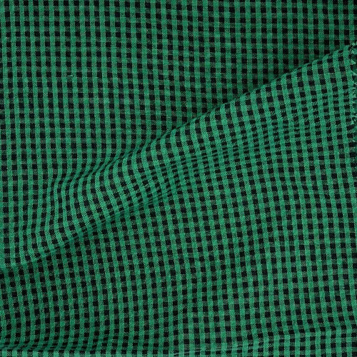 Check Green Seersucker Woven Fabric - SKU 5223 Green