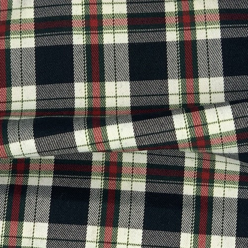Black/Hunter/Red Brawny Shirting Plaid Woven Fabric - SKU 4917