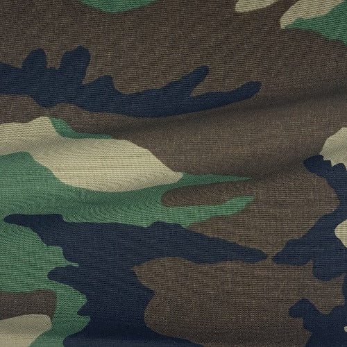 Brown Black Tan Green Military Waterproof Camo Canvas Print Woven Fabric - SKU 2430