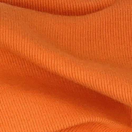 Orange Rib Cotton Open Width Knit Fabric - SKU 3196E