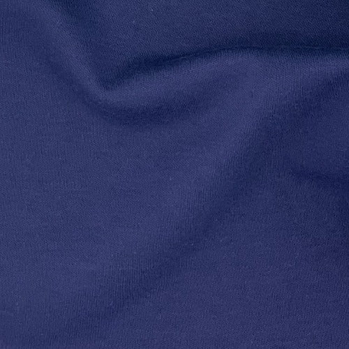 Navy #S/KK Polyester/Cotton 12 Ounce Interlock Knit Fabric - SKU 5828B