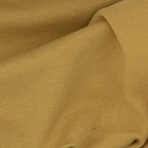 Mustard #S68 Polyester/Cotton 12 Ounce Interlock Knit Fabric - SKU 5828D