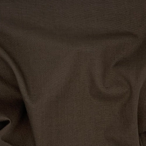 Brown 100% Cotton Solid Shirting Fabric - SKU 5784B