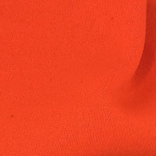 "Bright Orange #S202 Champion 90% Cotton Sweatshirt Fleece (3 End) 12.5 Ounce + Matching Rib ""Made In America"" -SKU 6040A"