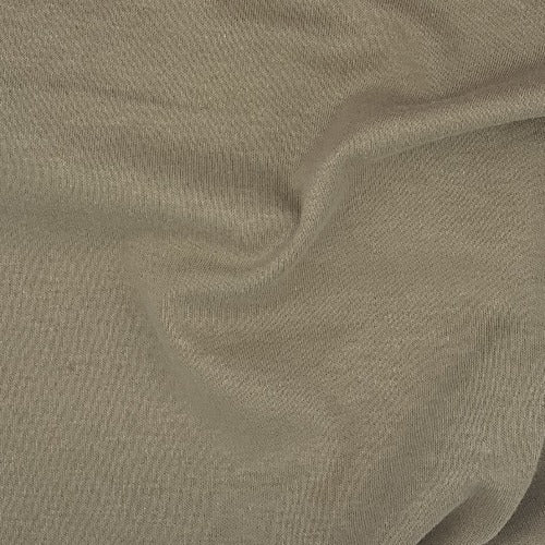 Khaki 100% Cotton Fire Retardant Interlock Knit Fabric - SKU 5240 Khaki