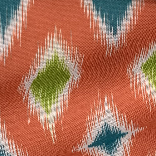 Coral IKAT ProTuff Outdoor Canvas Woven Fabric - SKU 1532K
