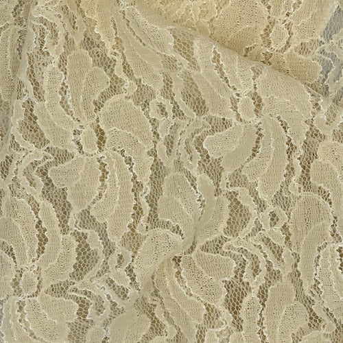 Champagne Embroidered Stretch Lace Knit Fabric - SKU 3660