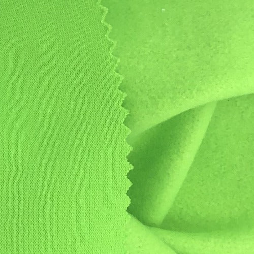 Safety Green 14 Ounce Polyester & Cotton Sweatshirt Knit Fabric - SKU 2046B