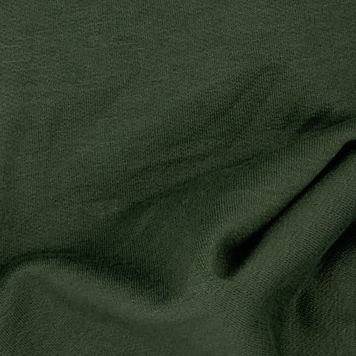 Olive U66/67 Mock-Bamboo 10 Ounce Sweatshirt Fleece Knit Fabric - SKU 5213