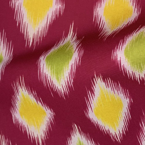 Fuchsia IKAT ProTuff Outdoor Canvas Woven Fabric - SKU 1532K