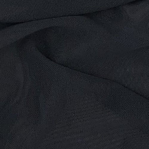 Charcoal #U159 Power Mesh Knit Fabric - SKU 6086