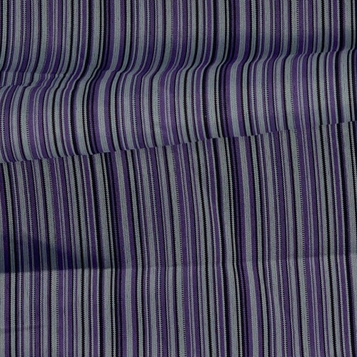 Purple Blouse Weight Stripe Woven Fabric - SKU 4989