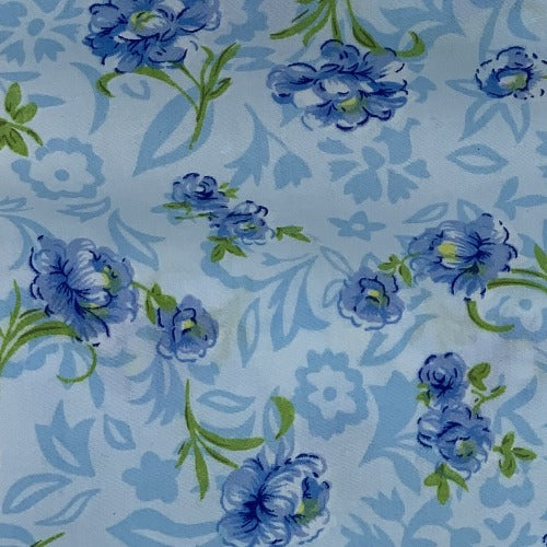 Blue Springtime #U25 Polyester/Cotton Easy Care Woven Print -SKU 9500A