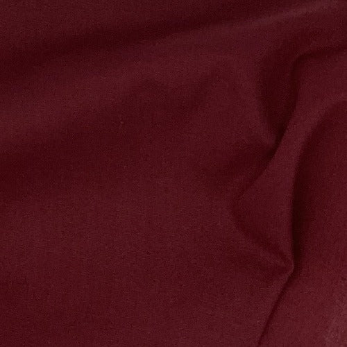Burgundy #U80 Cotton/Polyester Broadcloth Shirting Woven Fabric - SKU 5801A