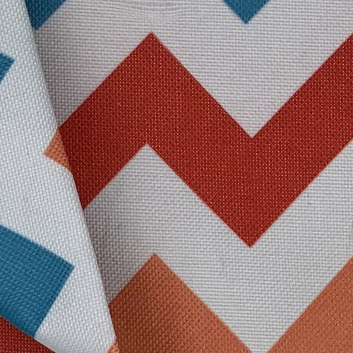 Coral #UB109/111 Pro Tuff Chevron Out Door Canvas Woven Fabric - SKU 4628
