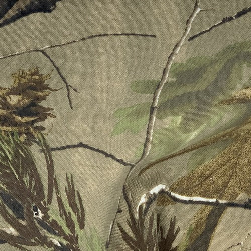 Green #65B Realtree Woodland Camouflage Print Woven Fabric - SKU 4798