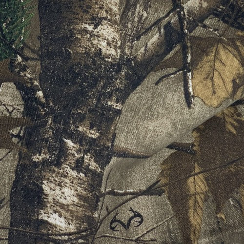 Realtree Brown/Green Woodland Camouflage Print Woven Fabric - SKU 3604