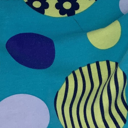 Turquoise Eggs Cotton Spandex Print Jersey Knit Fabric - SKU 4560D