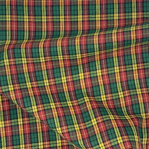 Hunter/Yellow #S91 Plaid Shirting- SKU 5925