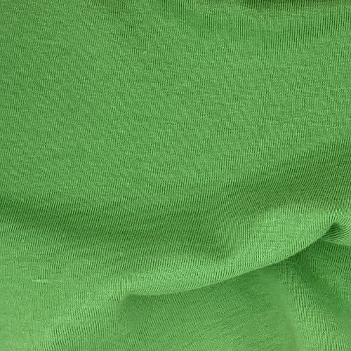Flag Green Rib Cotton Open Width Knit Fabric - SKU 3196E