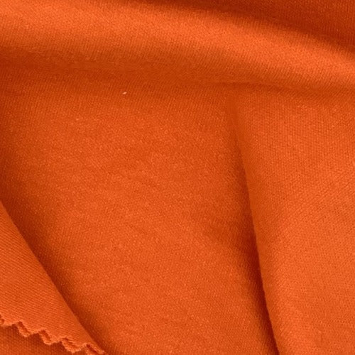 Orange #S910/913  Polyester/Cotton 12 Ounce Interlock Knit Fabric - SKU 5828A
