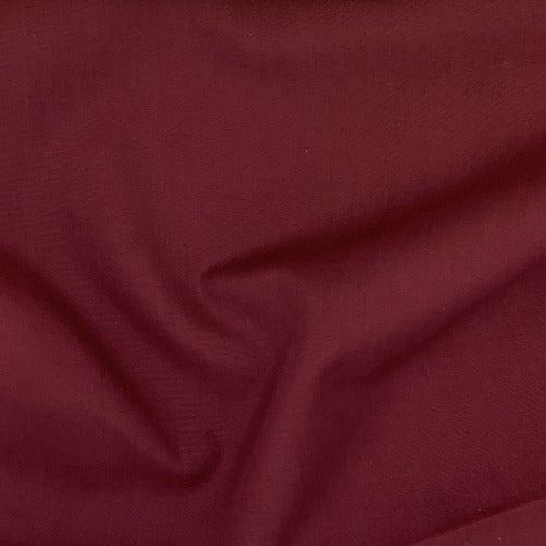Burgundy #U18/23 Cotton/Polyester Shirting Woven Fabric - SKU 5979