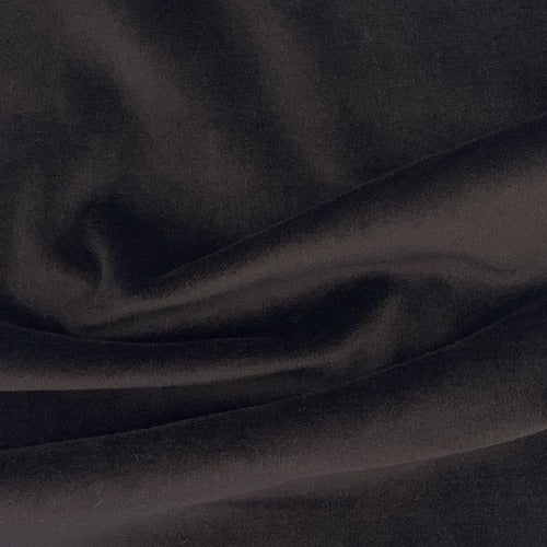 Brown #S7 Stretch Cotton Velour Knit Fabric - SKU 3833