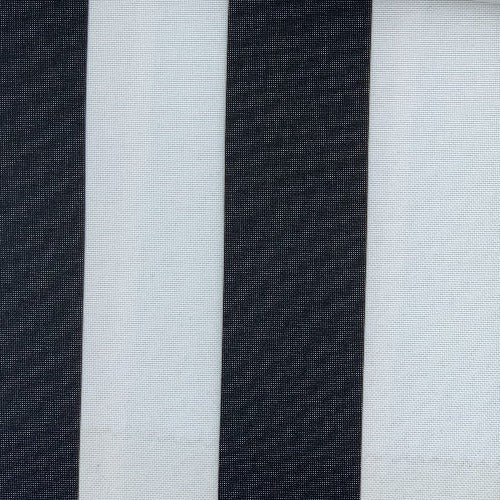 Black #UB111 ProTuff Wide Stripe Print Waterproof Canvas Woven Fabric - SKU MYL 1532S