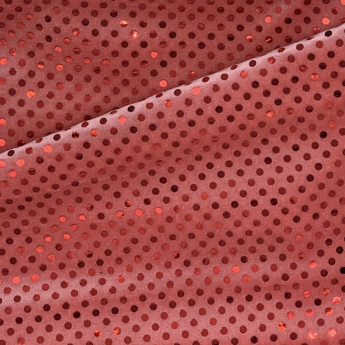 Coral #S/AA Velour Sequin/Polyester/Spandex Knit Fabric - SKU 5402B Coral