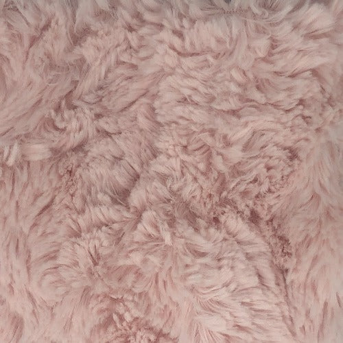 Pink #S208/209 Amelia Fun Faux Fur Knit Fabric - SKU 5919