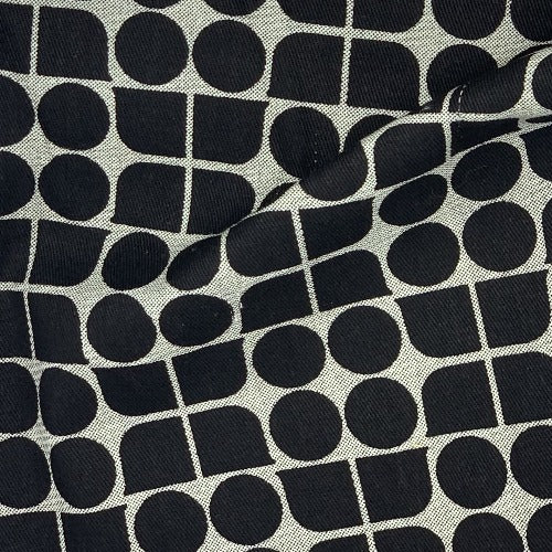 Black #UB198 Home Decorative Upholstery Print Woven Fabric - SKU 4902D