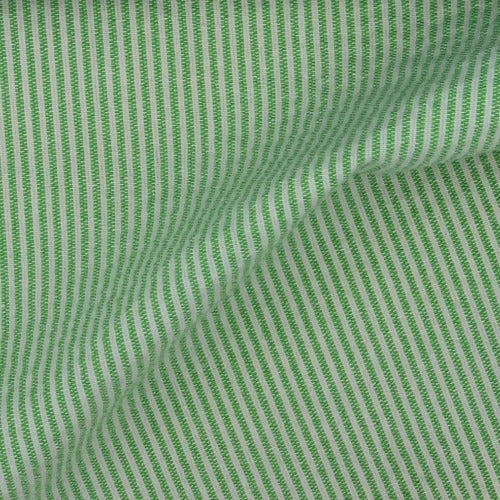 Kelly/White #SS96 1/16 Seersucker Stripe Shirting Woven Fabric - SKU 4732A