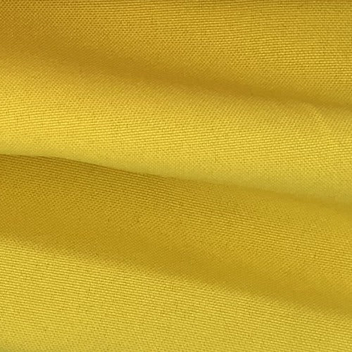 "Yellow 100% Polyester  Poplin 60"" Wide Woven Fabric (60 Yards Roll) - SKU BT/60"