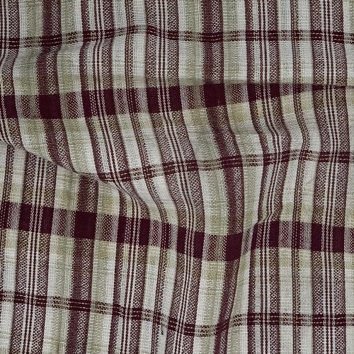 Cranberry #S18 Yarn Dye Plaid Linen Woven Fabric - SKU 4683A Cranberry