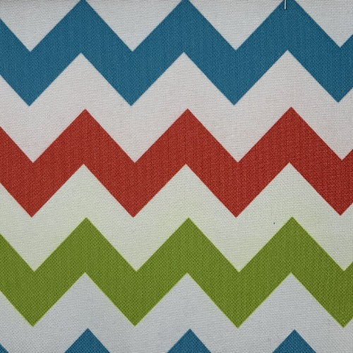 Blue #UB109/111 Pro Tuff Chevron Out Door Canvas Woven Fabric - SKU 4628