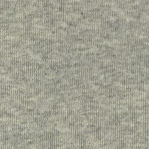 "Ash Grey #S/Wall ""Made In America"" Heavy Weight/Cuffing Rib Knit Fabric - SKU 6033A"
