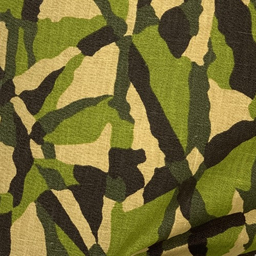 Brown Green #S164 Camouflage Linen/Cotton 6 Ounce Print - 5930A