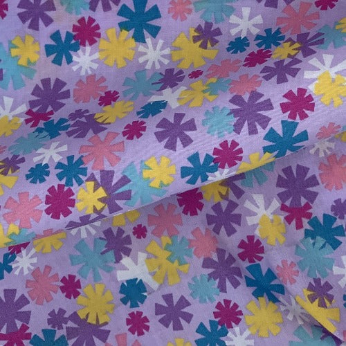 Lilac Avalon #S113 Easycare Polyester/Cotton Print Woven Fabric-SKU 5824D