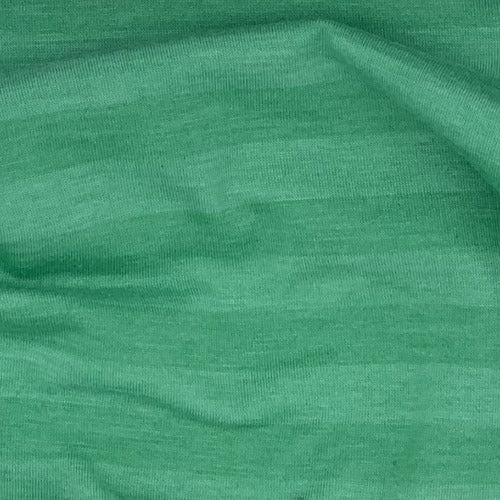 Clearance Green Heather Rayon Spandex Stripe Jersey Knit Fabric - SKU 4525A